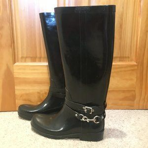 Coach Shoes - Coach Lori Tall Rain Boots